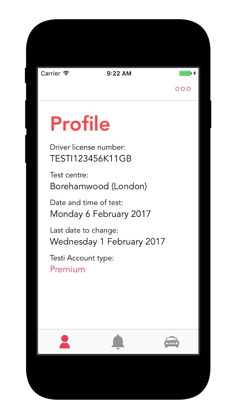 Testi app